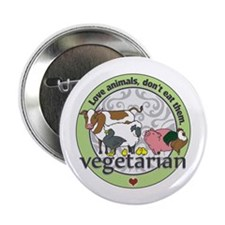 "Love Animals Dont Eat Them 2.25"" Button (10 pack)"