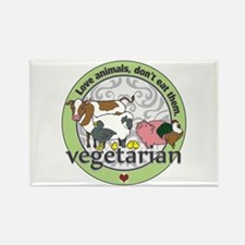 Love Animals Dont Eat Rectangle Magnet (100 pack)