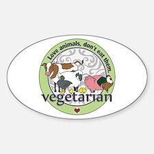 Love Animals Dont Eat Them Vegetari Decal