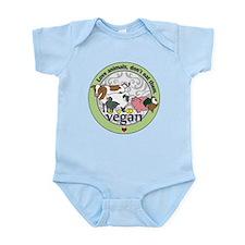 Love Animals Dont Eat Them Vegan Infant Bodysuit