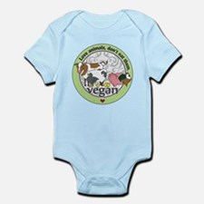 Love Animals Dont Eat Them Vegan Infant Bodysuit