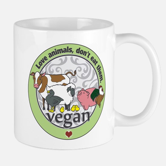 Love Animals Dont Eat Them Vegan Mug