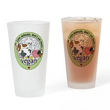 Love Animals Dont Eat Them Vegan Drinking Glass