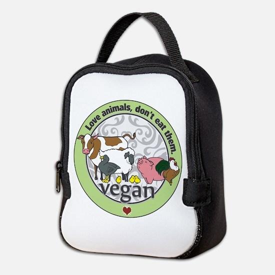 Love Animals Dont Eat Them Vega Neoprene Lunch Bag