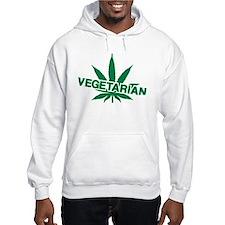 Vegetarian marijuana leaf Hoodie