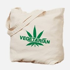 Vegetarian marijuana leaf Tote Bag
