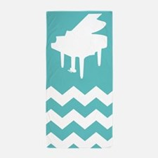 Chevron Piano Music Gift Beach Towel