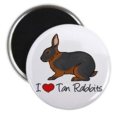 I Heart Tan Rabbits Magnets