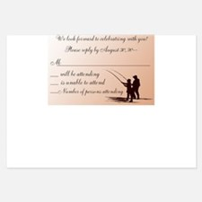 Couple Fishing Wedding RSVP / Reply Cards Invitati