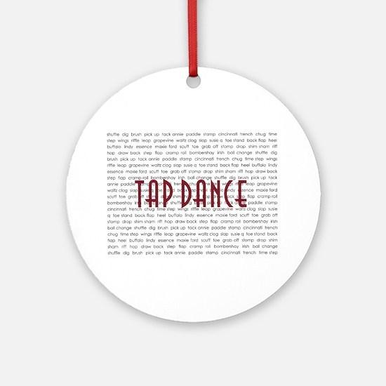 Tap Dance Ornament (Round)