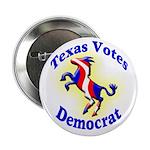 Texas Votes Democrat Button