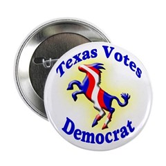 Texas Votes Democrat Button