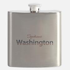 Custom Washington Flask