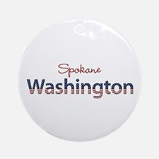 Custom Washington Ornament (Round)