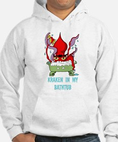 Bathtub Kraken Cartoon Hoodie