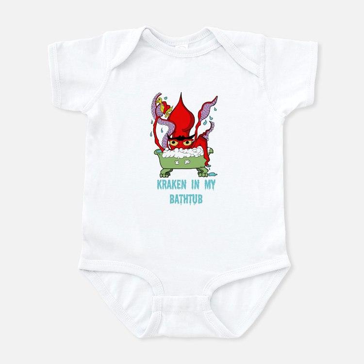 Bathtub Kraken Cartoon Infant Bodysuit