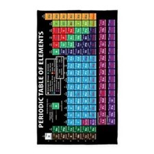 Periodic Table 3'x5' Area Rug