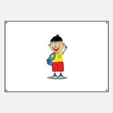 Smiling School Boy Child Banner