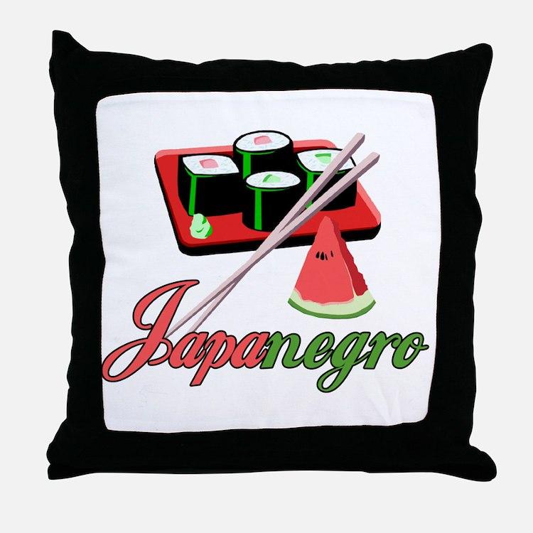 Japanegro Throw Pillow