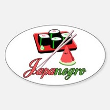 Japanegro Oval Decal
