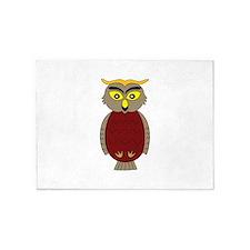 Teacher Owl Bird School 5'x7'Area Rug