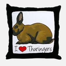 I Heart Thuringers Throw Pillow
