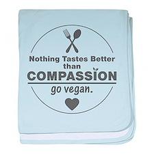Vegan Nothing Tastes Better Than Comp baby blanket