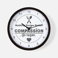 Vegan Nothing Tastes Better Than Compas Wall Clock