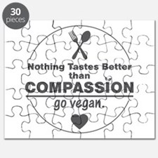 Vegan Nothing Tastes Better Than Compassion Puzzle