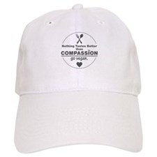 Vegan Nothing Tastes Better Than Compassion Baseball Cap