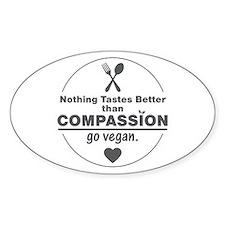 Vegan Nothing Tastes Better Than Co Decal
