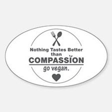 Vegan Nothing Tastes Better Than Co Decal