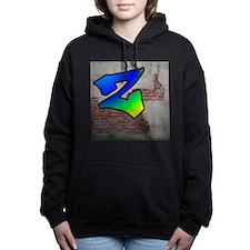 GRAFFITI #1 Z Women's Hooded Sweatshirt
