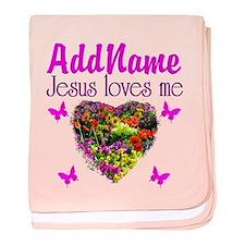 JESUS LOVES ME baby blanket
