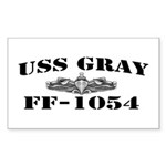USS GRAY Sticker (Rectangle)