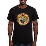 USS GRAY Men's Fitted T-Shirt (dark)
