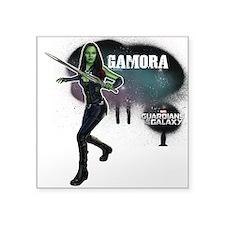 "Gamora Splatter Square Sticker 3"" x 3"""