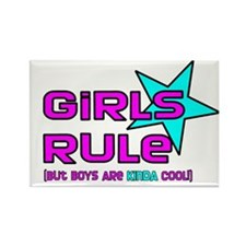 Girls Rule But.. Rectangle Magnet