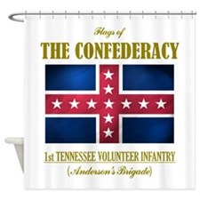 1st Tennessee Vol Inf (Flag 3).png Shower Curtain
