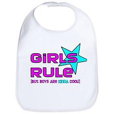 Girls Rule But.. Bib