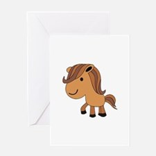 Little Horse Poney Animal Greeting Cards