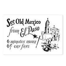 Vintage EL PASO Postcards (Package of 8)
