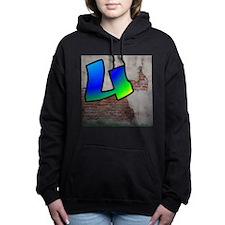 GRAFFITI #1 U Women's Hooded Sweatshirt