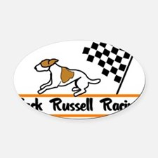 jrtracingLRG2.eps Oval Car Magnet