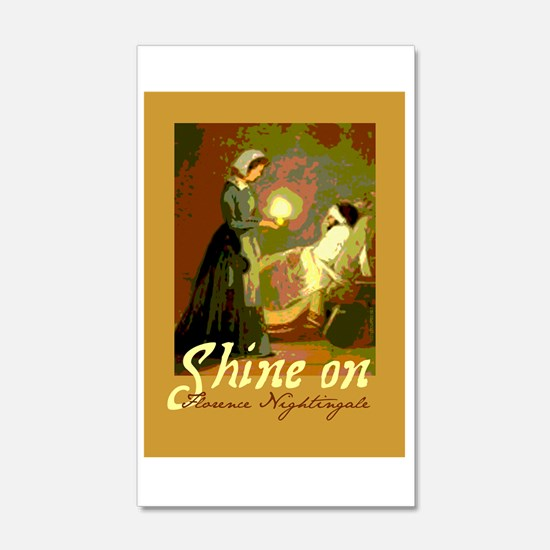 Florence Nightingale With Lamp Wall Decal
