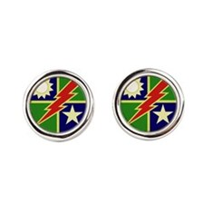 75th Ranger Regiment.png Round Cufflinks