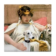 Cleopatria & her Whippet Tile Coaster