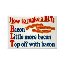 Bacon How To Make a BLT Rectangle Magnet