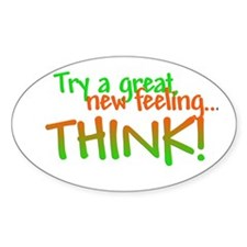 Try Thinking Oval Decal