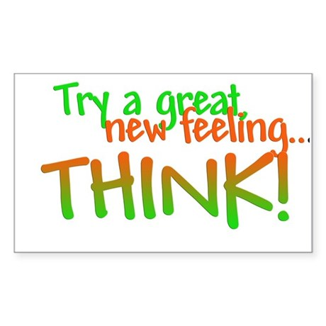 Try Thinking Rectangle Sticker